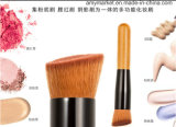 Single Oblique Wood Handle Makeup Brush for Eye Shadow Concealer Foundation Blush etc