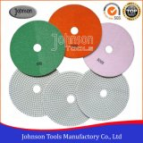 75-180mm White Type Wet Diamond Flexible Polishing Discs for Stone