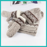 Ashion Knitted Scarf with &Hat &Glove Winter Gloves, Hat Scarf Glove Set