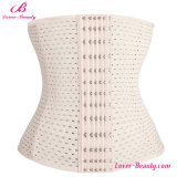 Elegant White Waist Trimmer Ventilate Shapewear Corset Plus Size Waist Cincher