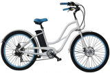 "26"" 36V 250W 7 Speed Woman Beach Cruiser Ebike"