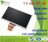 "7.0"" 1024*600 RGB 50pin 350CD/M2 Industrial TFT LCD Display"