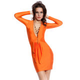 2017 Hot Sale Long Sleeve Sexy Women Bodycon Dress