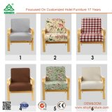 Comfortable Single Sofa Chair, Sturdy Wood Frame Single Seater Sofa Chairs