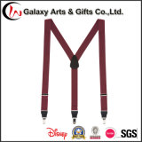 Fancy Solid Color Men′s Suspenders for Promotion