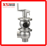 Aspetic Stainless Steel Manual Double Seat Valve