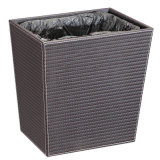 Fashion Design Leatherette Trash Can with Plastic Inner Layer