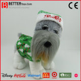 Promotional Gift Plush Toy Stuffed Animal Soft Standing Dog in Cloth