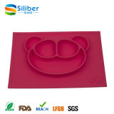 One-Piece Silicone Placemat Plate Reuseable Silicone Kids Meal Mat for Baby Dinner Plate