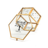 Made in China Wholesale Golden Plated Metal Jewelry Box for Wedding Gift Jb-1073