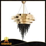 Project Stainless Steel Black Color K9 Crystal Chandelier (KA00222)