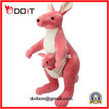 Super Soft Pink Plush Toy Mother and Baby Kangraroo