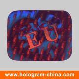 Red 3D Laser Security Hologram Label