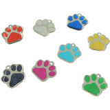 Hotsale Metal Blank Paw Glitter Pet ID Tag (W-20)