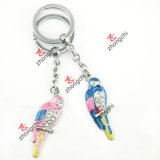 Metal Parrot Keychain for Zoo Souvenir Gift to Kids (KR-168)