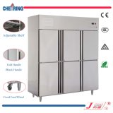 6 Door Commercial Stainless Steel Large Freezer with Ce Cerificate