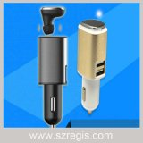 Multifunction Auto Parts Dual USB Car Charger Bluetooth Headset