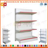Customized Steel Iron Shelving Supermarket Flat Back Panel Wall Shelves (Zhs583)