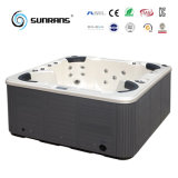 Discount Portable Wooden Whirlpool Soft Hot Tubs with Balboa Control Panel and Ozonator in Backyard (SR826)