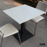 Stone Resin Fast Food Restaurant Marble Dining Table