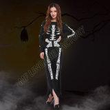 Wholesale Carnival Women Long Fancy Dress Cosplay Skull Skeletons Halloween