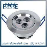 Round Recessed 3W LED Ceiling Lamp for Marker Use
