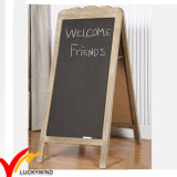 Antique Vintage Rustic French Country Style Free Standing a Design Wooden Blackboard