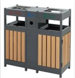 Rubbish Bin for Outdoor with Wooden Material (HW-307)