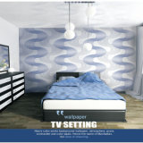 fashion Big Wave Bedroom Decorative Wall Paper