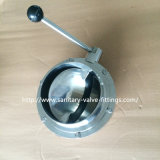 Sanitary 6 Inch Stainless Steel Butterfly Valve, Big Size 3A Butterfly Valve