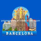 Barcelona Fridge Magnet of Polyresin Souvenirs