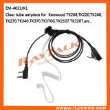 2-Wire Acoustic Clear Tube Earpiece / Transparent Tube Headset for Tk3000, Tk3101