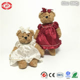 White and Red Dressing Fancy Brown Teddy Bear OEM Toy