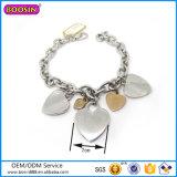 Wholesale High Quality Silver Jewellery Heart Shape Charm Bracelet