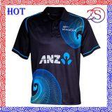 Custom Sublimation Print Polo Shirt Cheap Sublimated Cricket Jersey