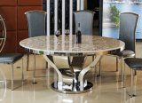 China Good Price Marble Round Dining Table for Home (SDT-009)