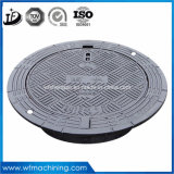 En124 A15 B125 C250 D400 Casting Wrought Iron Double Hinged Sealed Round Drain/Sewer Manhole Cover for Clearing Open 600mm