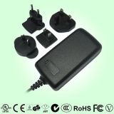 Power Adapter with Interchangeable AC Plugs