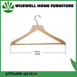 Solid Wood Wide Laundry Cloth Hanger with Pants Bar (WHG-A03)
