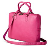 PU Leather Laptop Bags with Long Strap (H804)