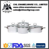 Factory Wholesale Straight Shapped Colored Cast Iron Enamel Casserole Pot