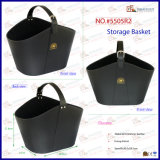 Serial PU Leather Large Capacity Durable Storage Basket
