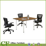 Square Small Wooden MFC Meeting Table for Office Discussion