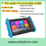 7 Inch Handheld Ipc Ahd Tvi Cvi CCTV Test Monitor at-9800 Plus with H. 265/H. 264, 4k Video Display Multi Functional
