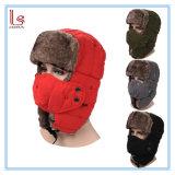 2017 Earflap Winter Black Fur Hats Warm Winter Snow Women Cap with Face Mask