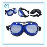 Blue Dark PC Mirrored ATV Goggles Riding Eyewear
