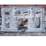 White Marble Fireplace Surround Mantel (SY-MF009)
