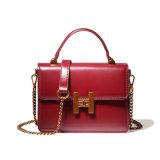 Fashion Cowhide Leather Sling Bag, Waterproof Red Handbags, Tote Bag