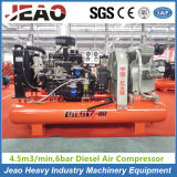 Diesel Mining Piston Air Compressor 35kw HS4.5/6c