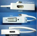 Mini Displayport to DVI-D, HDMI or Displayport Adapter (M-F)